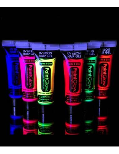 Gel Cheveux Fluorescent UV - brille sous lumière noire