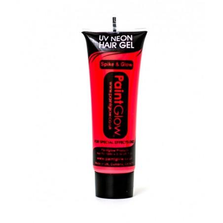 Gel Cheveux Fluorescent UV Rouge