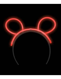 Oreilles bunny lumineuses -  Rouge