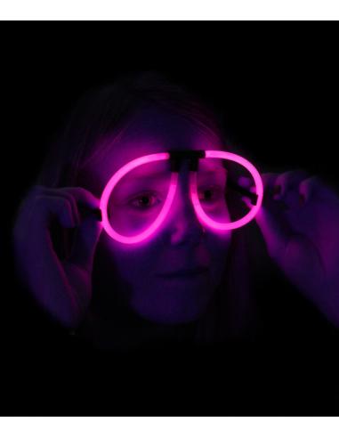 Lunettes Fluorescente Aviator -  Rose - Lunettes lumineuses qui brillent après avoir été craquées