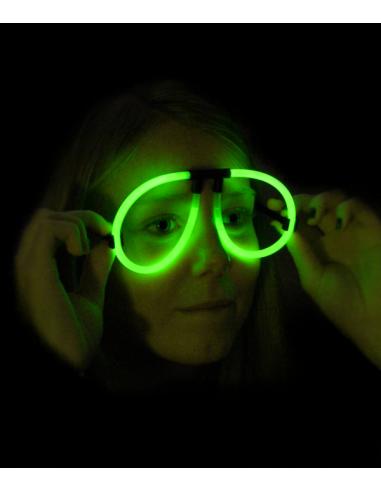 Lunettes Fluorescente Aviator -  Vert - Lunettes lumineuses qui brillent après avoir été craquées