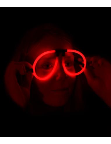 Lunettes Fluorescente Aviator -  Rouge - Lunettes lumineuses qui brillent après avoir été craquées