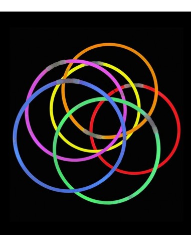 25 Colliers Fluo Lumineux Assortis