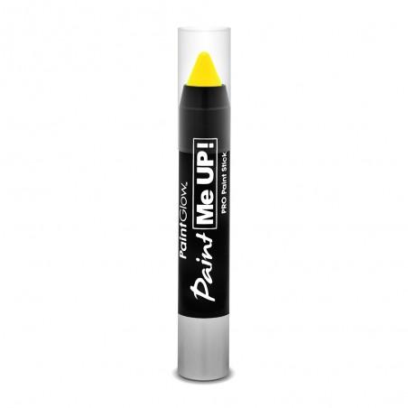 Crayon Maquillage Fluorescent (UV) pour corps et visage - Jaune