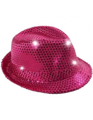 Chapeau Lumineux à LED - Rose