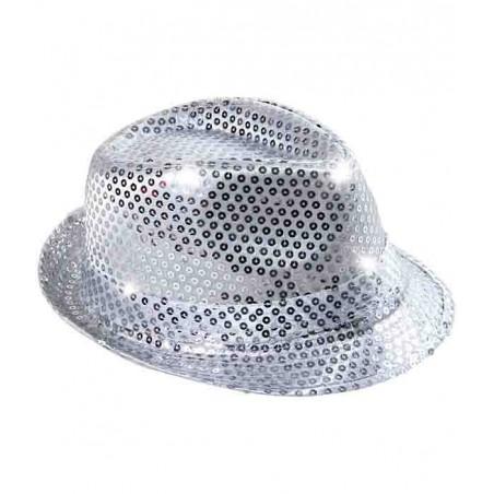 Chapeau Lumineux à LED - Argent