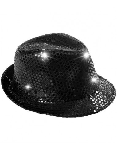 Chapeau Lumineux à LED - Noir
