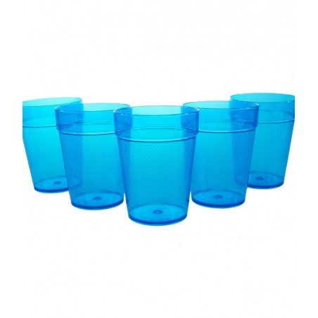 5 Verres Gobelets Fluorescent UV Tumblers 230ml - Bleus