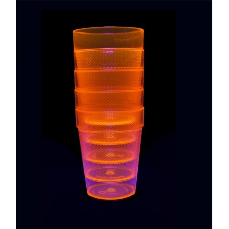 5 Verres Gobelets Fluorescent UV Tumblers 230ml - Orange