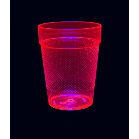 5 Verres Gobelets Fluorescent UV Tumblers 230ml -Rose