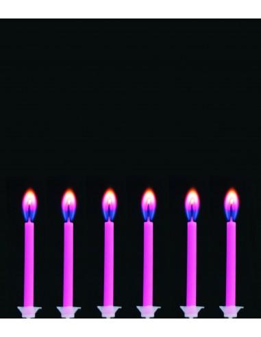 12 Bougies à flamme colorée