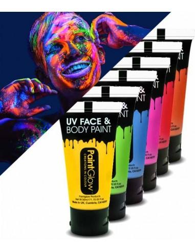 Tube de Maquillage FLUO UV 50ML réactif lumière noire