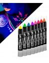 Crayon de Maquillage Phosphorescent (GLOW IN THE DARK) - Couleurs fluo assorties