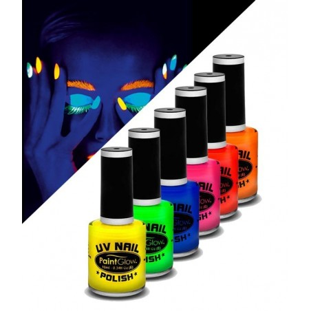 Glow UV Nail Polish - Neon Colors
