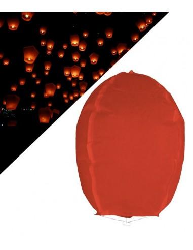 Lanterne volante céleste Rouge - 1 mètre
