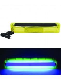 Réglette Tube Néon 45cm UV - plastique fluo jaune - Lumière noire