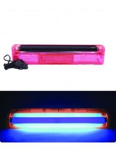 Réglette Tube Néon 45cm UV - plastique fluo rose - Lumière noire