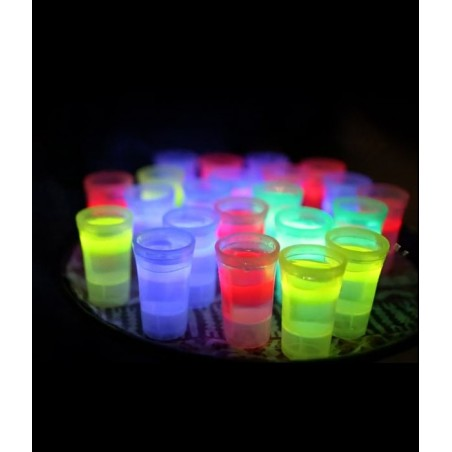 2 Shooters Lumineux Fluorescent PowerGlass™ 4 cl - Chimiluminescent Glow