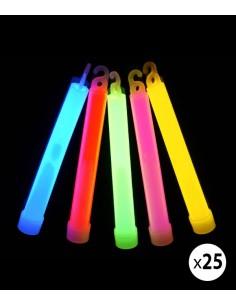 25 Bâtons Lumineux Fluo 15 cm - A craquer - Chimiluminescent - Glow  sticks - Couleurs assorties
