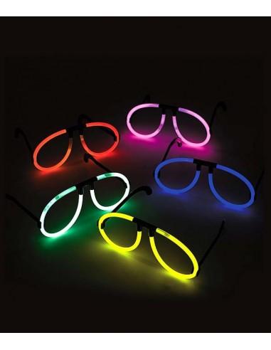 Lunettes Fluorescente Aviator -  Multicolore - Lunettes lumineuses qui brillent après avoir été craquées
