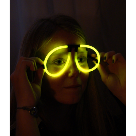 Pack 36 Lunettes Fluorescentes lumineuses Aviator 4 couleurs fluo Assorties