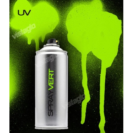 Spray de peinture fluorescente (UV-active) 400ml - Vert