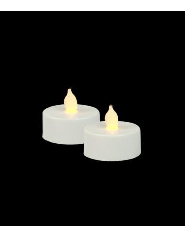 Bougies Chauffe-plat LED x2