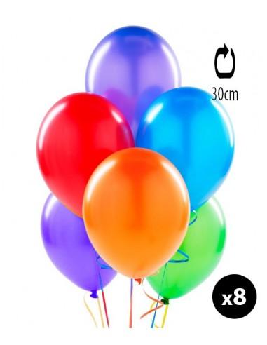 8 BALLONS PEARL 30 CM