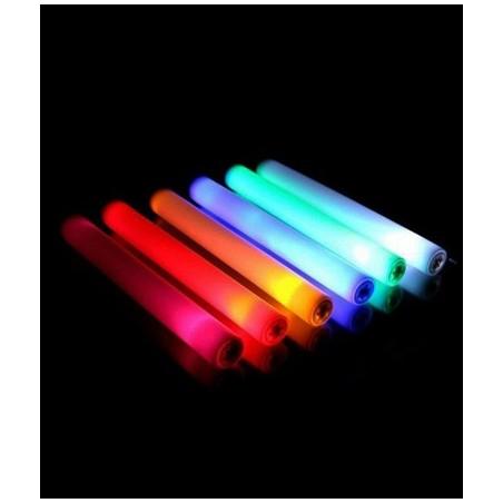 Baton Mousse Lumineux LED BLANC 47cm - Soirée lumineuses - descente aux flambeaux sport d'hiver