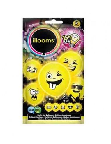 Ballons Lumineux LED Emoji / Emoticône