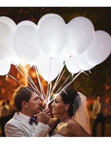 5 Ballons Lumineux LED - Blancs