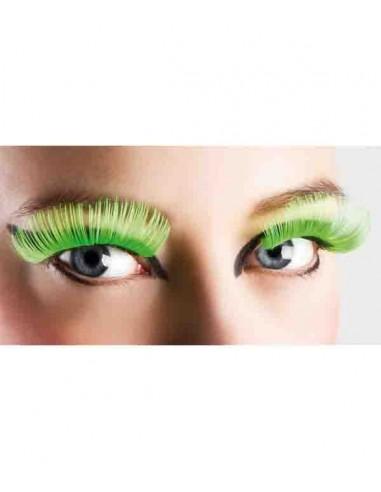 Faux Cils Vert FLUO - Taille XL