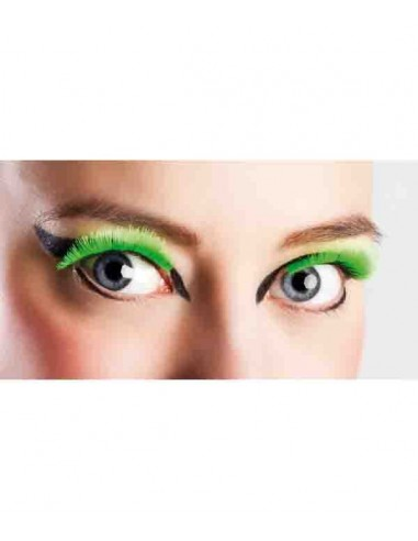 Faux Cils Vert FLUO - Taille standard