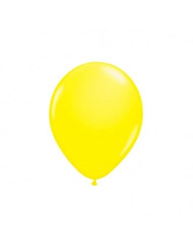 8 Ballons Latex Jaune Fluo 23cm