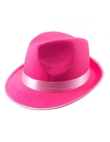 Chapeau en feutre - Rose Fluo