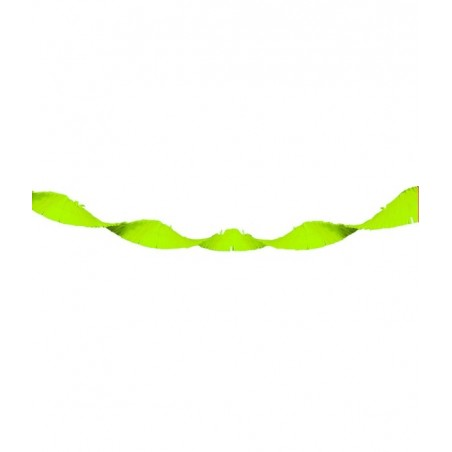 Guirlande Papier Crépon Vert Fluo