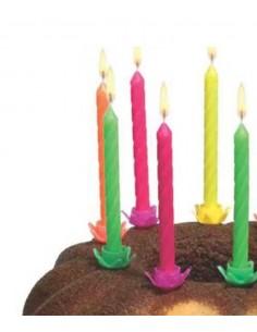 24 Bougies d'Anniversaire Fluo