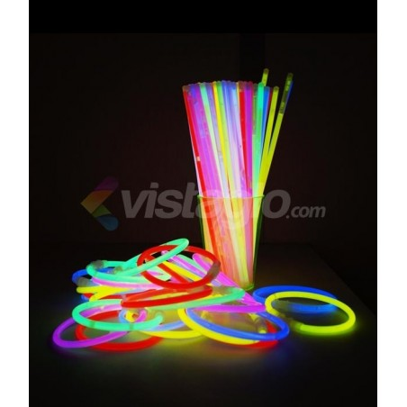 15 Bracelets Lumineux Fluorescents  - ASSORTIS Superbrite