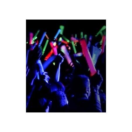 Baton Mousse Lumineux LED BLEU 47cm - Festival, evnement nocturne, concert, baton supporter, discothèque goodies