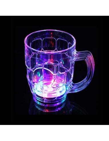 Chope à bière Lumineuse 50cl - LED - Plusieurs modes lumineux