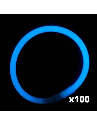 100 Bracelets Lumineux Fluorescent - Standard - Bleus - Vistaglo