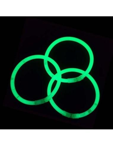 100 Bracelets Lumineux Fluorescent - Standard - Vert - Vistaglo