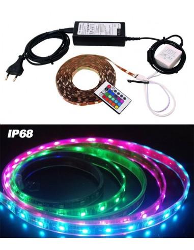 Bandeau ruban lumineux LED Strip RVB 150cm 12V