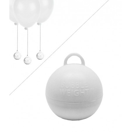Poids Ballon Helium Bubble - 35g - Blanc mariage