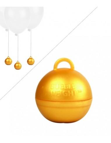Poids Ballon Helium Bubble - 35g - Doré or chic