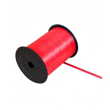 Ruban bolduc 5mm x 500 mètres Rouge pour papier cadeaux ou attacher des ballons