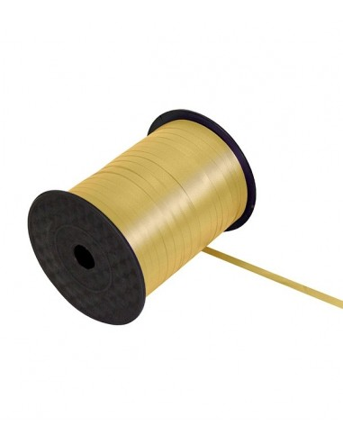 Ruban bolduc 5mm x 500 mètres Doré pour papier cadeaux ou attacher des ballons