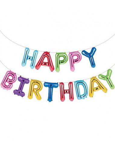 Guirlande Ballons Happy Birthday Colorés
