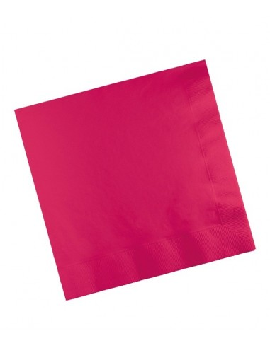 20 Serviettes en papier 33 cm - Magenta