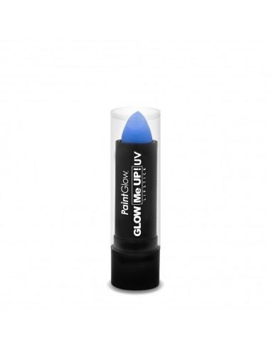 Rouge à lèvre fluorescent bleu réactif à la lumière noire UV qui le fait briller dans le noir